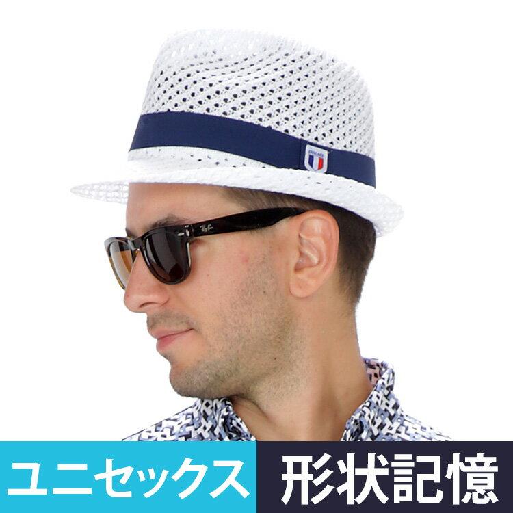 ゴルフ帽子初バックに畳んで入る形状記憶ローゲージハットefficace-hommeエフィカスオムメン