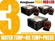 オートゲージ 3点セット 水温+油温+油圧計 PK 60Φ アンバーレッドLED