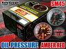オートゲージ 油圧計 SM45Φ アンバーレッドLED オイル プレッシャー 追加 メーター 即納 送料無料