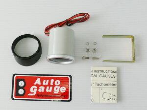 オートゲージ電圧計SWL52φスモークメーターホワイトLED