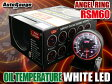オートゲージ 油温計 RSM 60Φ エンジェルリング ホワイト LED オイル 温度 追加 メーター 即納 送料無料