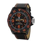 在庫販売 Smith&Wesson スミス&ウェッソン EGO 時計 ウォッチ 腕時計 SWW−LW6058 レザーストラップ