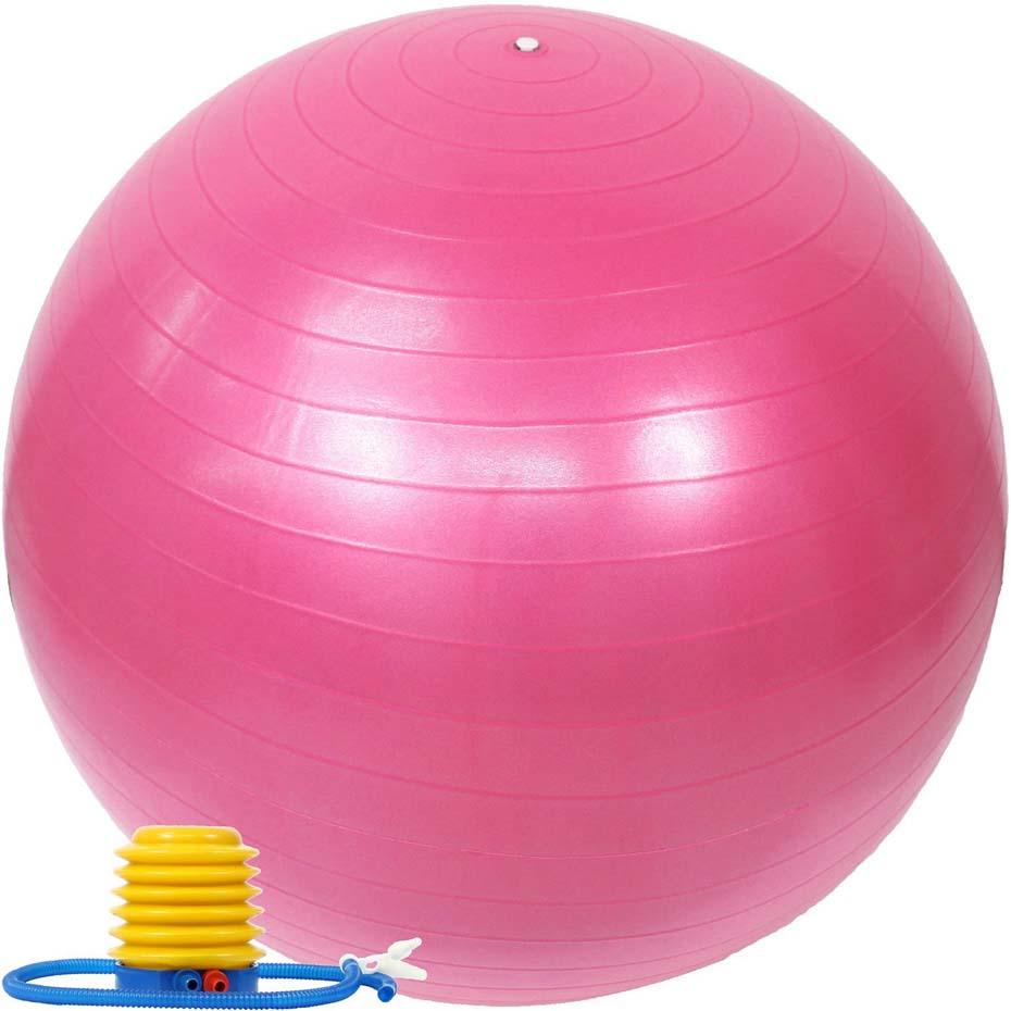 バランスボール 55cm ポンプ付き アンチバースト EGS(イージーエス) バランスボール 55cm EG-3062【ジムボール ヨガボール エクササイズボール】【バランスディスク ヨガマット 腹筋ローラー などの 筋トレ ヨガ フィットネス 用品 と一緒に】