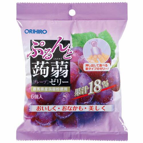 オリヒロ ぷるんと蒟蒻ゼリー パウチ グレープ  20G*6個