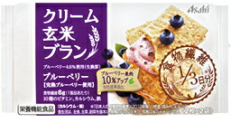 【送料無料】(ケース販売)クリーム玄米ブラン ブルーベリー 2枚X2袋X48個セット