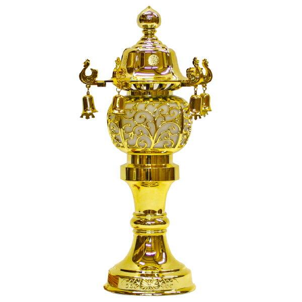 【小型灯・盆提灯/ちょうちん】10号鈴付(ゴールド) 1対【HLS_DU】【RCP】
