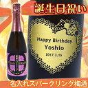 誕生日祝い 名入れ梅酒 薩摩スパークリング梅酒 750ml