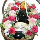 母の日の贈り物に最適!! ワインと生花のマリアージュギフト 【モエ・シャンドン】