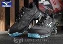 楽天EHIMEMACHINE 楽天市場店[新商品] ミズノ 安全靴 F1GA190391 ブラック×ライトブルー×ブラック オールマイティ ES31L ワーキングシューズ