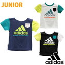 adidas(アディダス) ジュニア (キッズ、男の子) Tシャツ 半袖 フィットネスウェア hr008