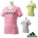 【30%OFF】adidas(アディダス) レディース BCボーダーショートスリーブ Tシャツ 半袖 ランニングウェア/フィットネスウェア mia22