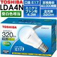 ショッピングLED 東芝 LED電球「E-CORE」 ミニクリプトン形 口金:E17 消費電力:4.3W 昼白色相当 定格寿命:40000時間LDA4N-E17