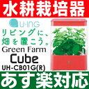 【あす楽対応】【水耕栽培器】ユーイング「Green Farm(グリーンファームキューブ」UH-CB01GR(レッド)