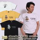Tシャツ メンズ アメカジ 半袖 カットソー プリント 国産 日本製 エイトジー EIGHT-G DEVIL DOG 8ST-27 ¬