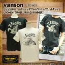 バンソン vanson プリント半袖Tシャツ [LTV-605] ルーニーテューンズ ロードランナー バイク Tシャツ メンズ