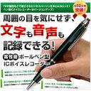 ICレコーダー ペン型 ボイスレコーダー 小型 高音質 ペン型ボイスレコーダー 4GB リモコン付きイヤホン USB接続