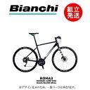 【2021年モデル】BIANCHI(ビアンキ) ROMA3(ローマ3)Shimano Acera Mix 2x8 カラー:RX2: Black/ Silver Decal【プロの整備士による整備組付済】クロスバイク【今出川店別館】