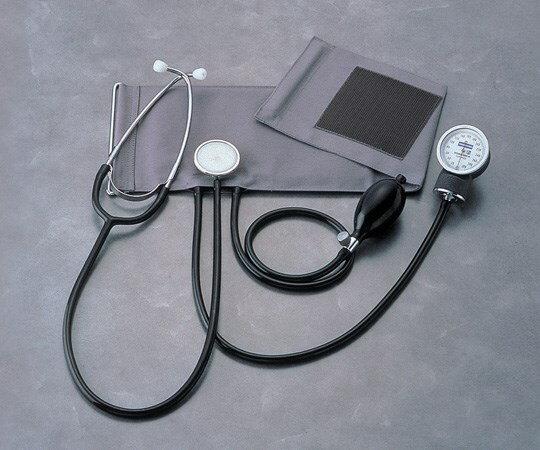 ケンツメディコ 聴診器付アネロイド血圧計 本体セット No.501 (0-7012-01)