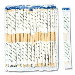 ポリ入完封 元禄箸 楊枝入り 100膳×10袋 割り箸 業務用 #004636523