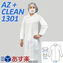 アゼアス 使い捨て白衣3点セット (白衣・キャップ・マスク) AZ CLEAN 1301 前ファスナータイプ 1袋 LL