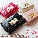 HELLO KITTY財布/エナメルのシャイニー感が可愛い2つ折りサイフ( 新作キティちゃん財布 サンリオキャラクター財布 かわいい レディース財布)