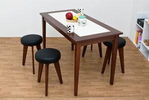 ダイニングテーブル木製5点セット幅120北欧モダンMilanタイル入り送料無料楽天通販【RCP】ミッドセンチュリーモダン北欧ナチュラルシンプル【as】【10P05Apr14M】【140405coupon300】