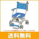 (代引不可)シャトレチェアB(後輪固定タイプ) U型シート SW-6058 ウチヱ(お風呂 椅子 浴用 シャワーキャリー 背付き 介護 椅子 折りたたみ キャリー) 介護用品