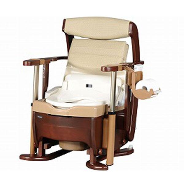 パナソニック電工 家具調トイレ座楽シャワポット ひじ掛け昇降PN-L21525(ウォシュレット 暖房脱臭機能付き) 介護用品