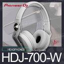 PioneerHDJ-700-W【パイオニア】【DJ HEADPHONES (white)】【送料無料】