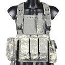 チェストリグ ACU迷彩 タクティカルベスト アーマーベスト サバゲー/装備/サバイバルゲーム/M4/AK/PMC/ミリタリー/海兵隊