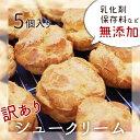【訳あり】シュークリーム5個入り 無添加/生クリームシュー/おやつ/おもたせ/大山純生