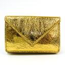 ショッピングバレンシアガ バレンシアガ(Balenciaga) ペーパー ミニウォレット 391446 レディース レザー 財布(三つ折り) ゴールド 【中古】