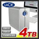 【外付けハードディスク RAID】【4TB】LaCie RAID機能搭載 外付け ハードディスク【HDD】【LaCie 2big quadra】:LCH-2BQ040Q3【LaCie(ラシー)】【送料無料】