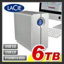 【外付けハードディスク RAID】【6TB】LaCie RAID機能搭載 外付け ハードディスク【HDD】【LaCie 2big quadra】:LCH-2BQ060Q3【LaCie(ラシー)】【送料無料】