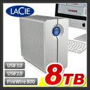 【外付けハードディスク RAID】【8TB】LaCie RAID機能搭載 外付け ハードディスク【HDD】【LaCie 2big quadra】:LCH-2BQ080Q3【LaCie(ラシー)】【送料無料】