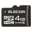 【送料無料】class6対応 microSDHCメモリーカード:MF-MRSDH04GC6[エレコム]