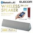 [アウトレット]【送料無料】apt-X対応Bluetoothステレオスピーカー:LBT-SPP310AVSV[ELECOM(エレコム)]