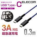 断線に強い高耐久モデル。USB Type-C端子を搭載した機器同士の接続ができるUSB2.0ケーブル。