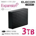 【送料無料】外付けハードディスク Seagate Expansion 高速転送USB3.0 データ保存/番組録画に最適 静音設計 外付けHDD ブラック [3TB]:SGD-NY030UBK[ELEC