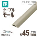 エレコム 床用モールケーブルカバー ベージュ 1m 約幅45mm LD-GA1307