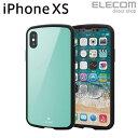 エレコム iPhone XS ケース 耐衝撃 TOUGH SLIM LITE ライトブルー PM-A18BTSLBUL
