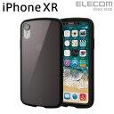 エレコム iPhone XR ケース 耐衝撃 TOUGH SLIM LITE クリアブラック PM-A18CTSLCBK