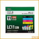 【インク ブラザー】【012997】 ブラザー純正 LC11-4PK対応 汎用インクINK-B11-4P【インクジェット】 INK-B11-4P【D】【OHM】