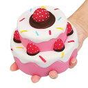 新品 送料無料 約11.5cm スクイーズ ホールケーキ ケーキホール イチゴ いちご ぬいぐるみ おもちゃ 動物 かわいい ストラップ 握る ス..
