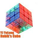 送料無料 新品●YJ YuLong ルービックキューブ スケルトン●世界基準配色 Rubik's Cube T