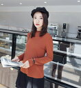 レディース 韓国ファッション ハイネック ニット セーター カットソー 細身ロングスリーブ トップス 普段着 オフコーデ OFF インナー フォーマル キャラメル ベージュ ブルー S M L サイズ