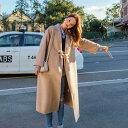 ショッピングオートミール 「最大5%OFFクーポン配布中」 レディース 韓国ファッション ロングコート ローブコート アウター 秋 冬 長袖 オフコーデ OFF 学生 オフィス オートミール S M L XL サイズ