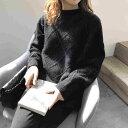 ショッピングオートミール 「最大5%OFFクーポン配布中」 レディース 韓国ファッション ニット チェック シンプル 無地 セーター ゆったり 長袖 トップス 学生 ブルー ブラック オレンジ オートミール ネイビー ホワイト グレー フリーサイズ