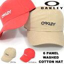 ショッピングオークリー キャップ OAKLEY オークリー メンズ OAKLEY 6 PANEL WASHED COTTON HAT ロゴ 帽子 CAP 熱中症対策 日射病予防 得割30