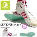 スニーカー アディダス adidas NEO BEQTMID LEA レディース ハイカット シューズ 水玉柄 ドット柄 カジュアル シューズ 靴 2014春新作 20%off F38010 【あす楽対応】